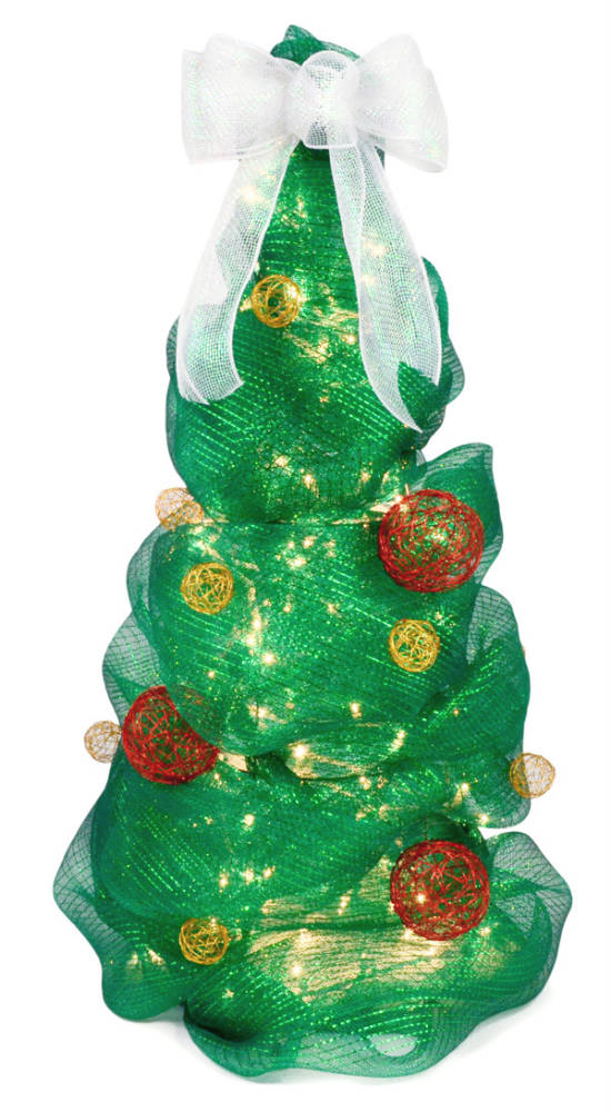 Коледно дърво от декоративна мрежа