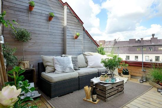 Скандинавски апартамент с удивителна тераса